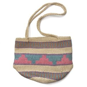 Vintage Woven Sisal Jute Southwestern Market Bag